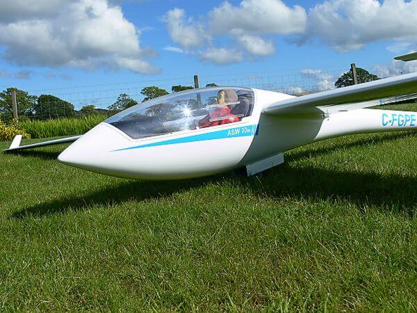 pat teakle gliders asw 20 glider